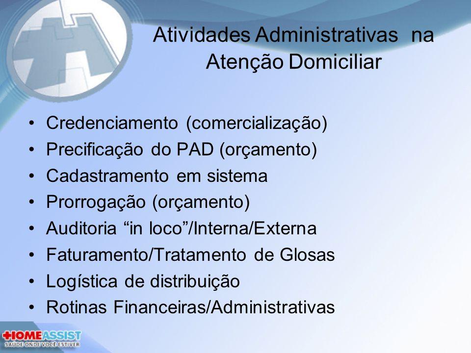 Atividades Administrativas na Atenção Domiciliar