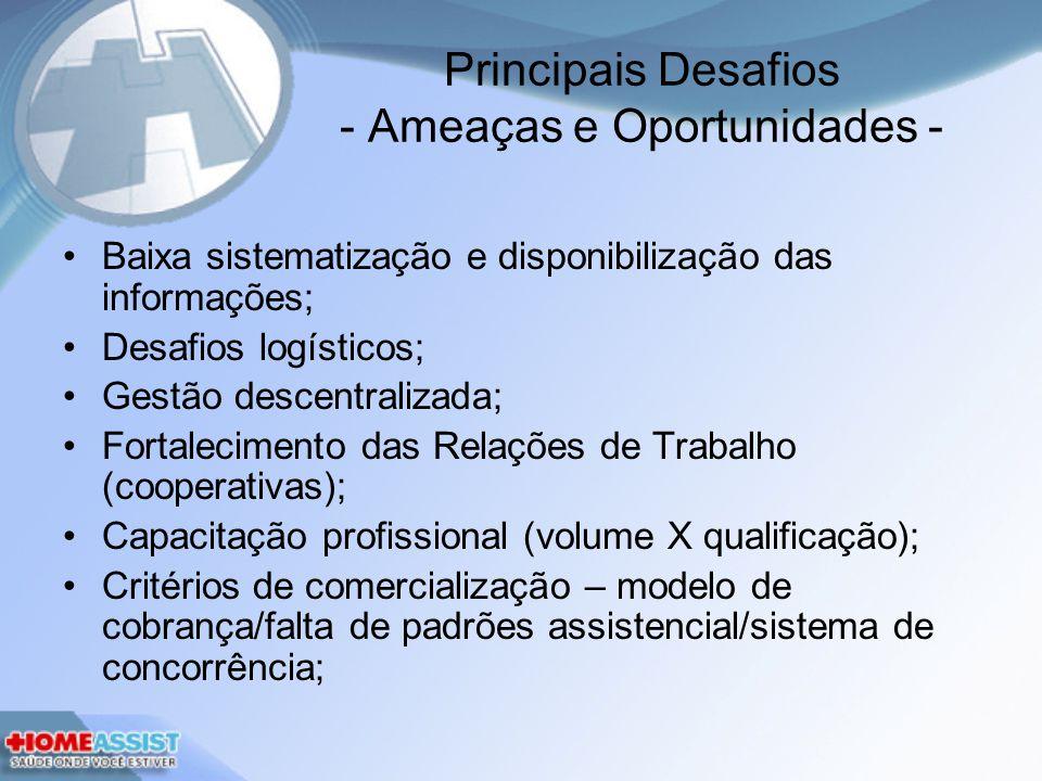 Principais Desafios - Ameaças e Oportunidades -
