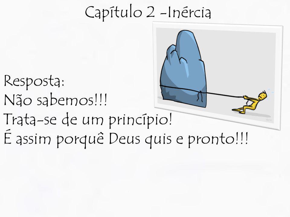 Capítulo 2 -Inércia Resposta: Não sabemos!!. Trata-se de um princípio.
