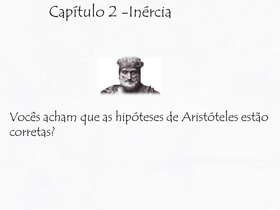 Capítulo 2 -Inércia Vocês acham que as hipóteses de Aristóteles estão corretas