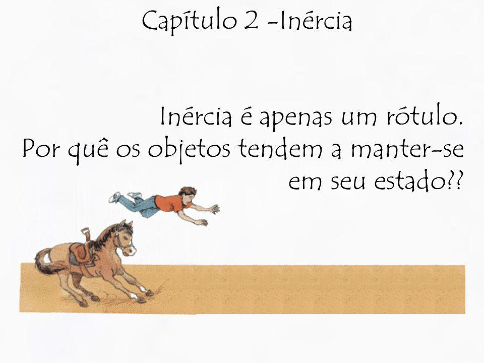 Capítulo 2 -Inércia Inércia é apenas um rótulo.