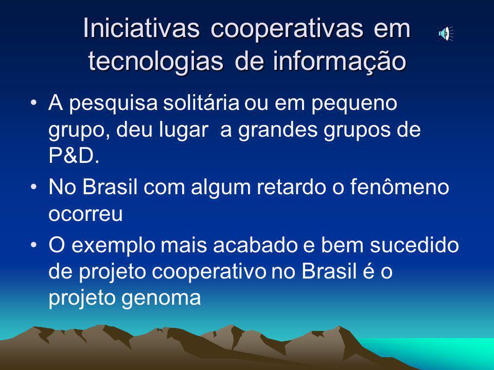 Iniciativas cooperativas em tecnologias de informação