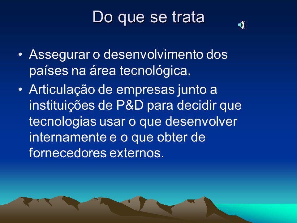 Do que se trata Assegurar o desenvolvimento dos países na área tecnológica.