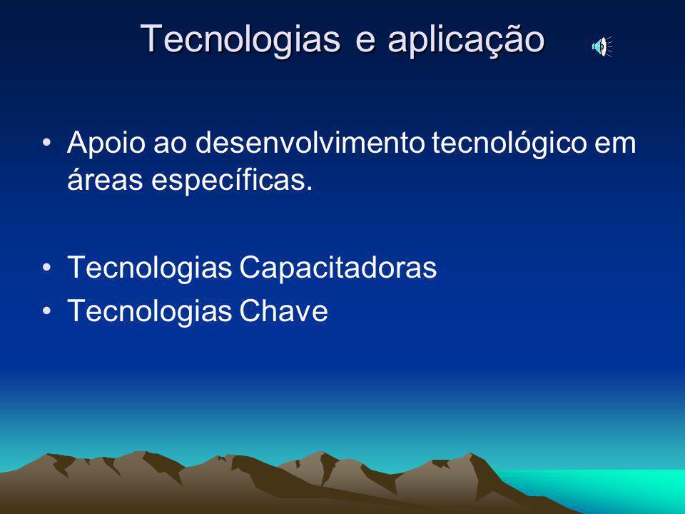 Tecnologias e aplicação