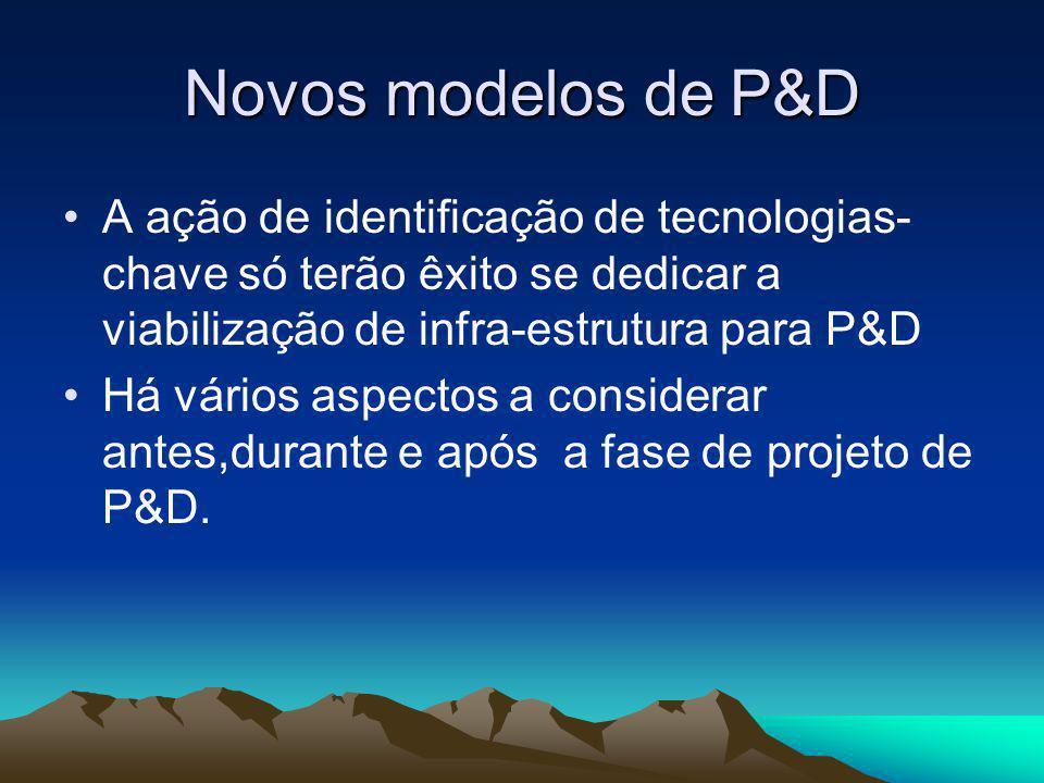 Novos modelos de P&D A ação de identificação de tecnologias-chave só terão êxito se dedicar a viabilização de infra-estrutura para P&D.