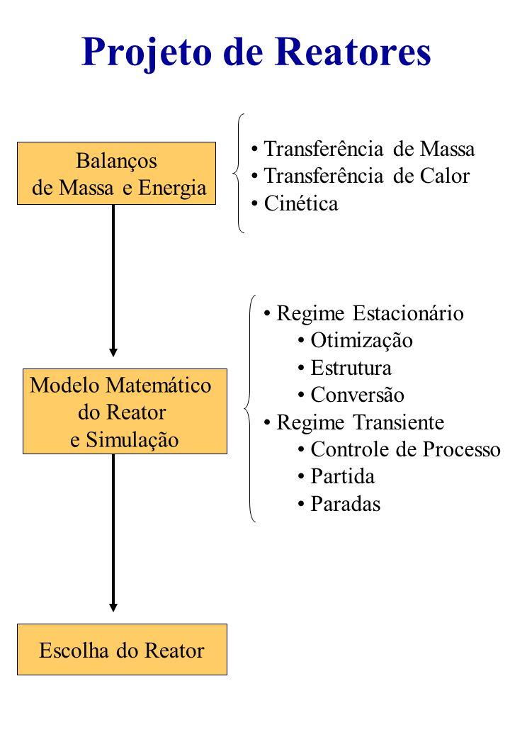Projeto de Reatores Transferência de Massa Balanços