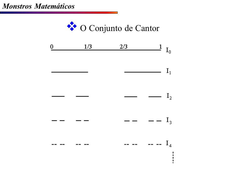 Monstros Matemáticos O Conjunto de Cantor