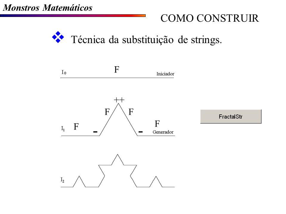 - COMO CONSTRUIR Técnica da substituição de strings.