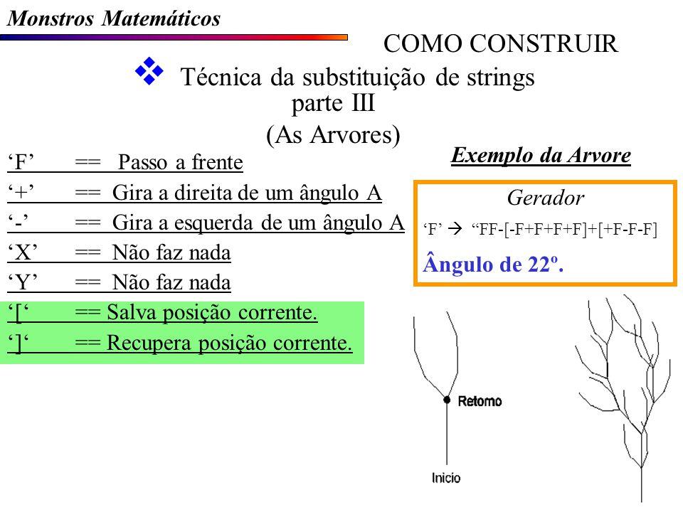 Técnica da substituição de strings parte III