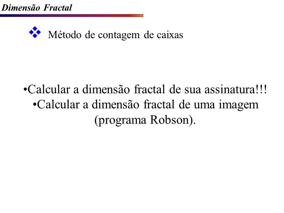 Calcular a dimensão fractal de sua assinatura!!!