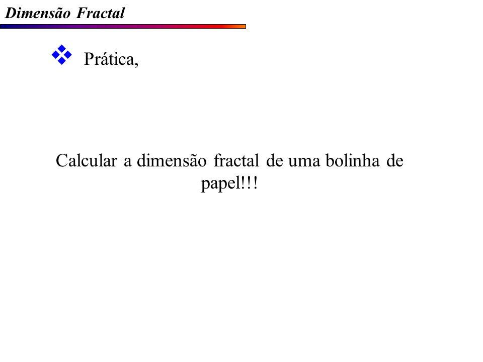 Calcular a dimensão fractal de uma bolinha de papel!!!