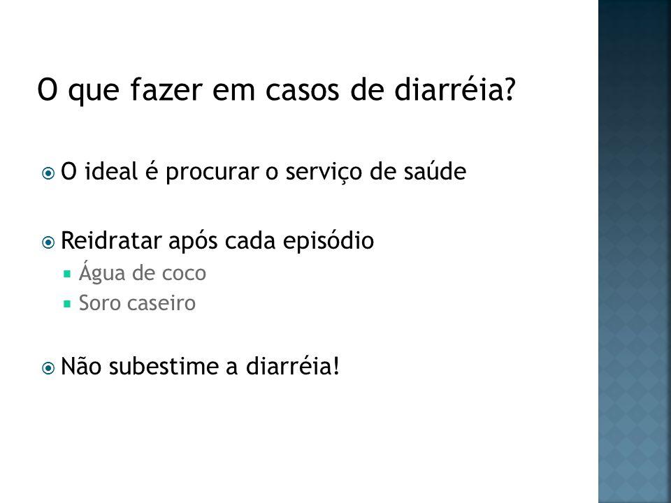 O que fazer em casos de diarréia
