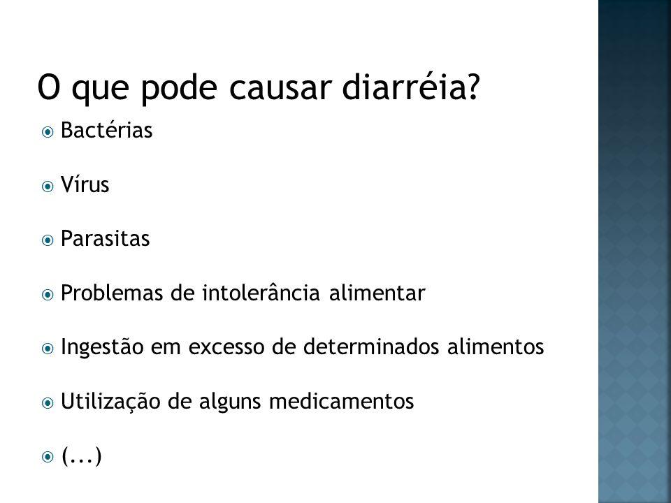O que pode causar diarréia