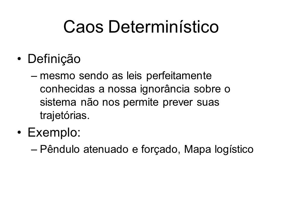 Caos Determinístico Definição Exemplo: