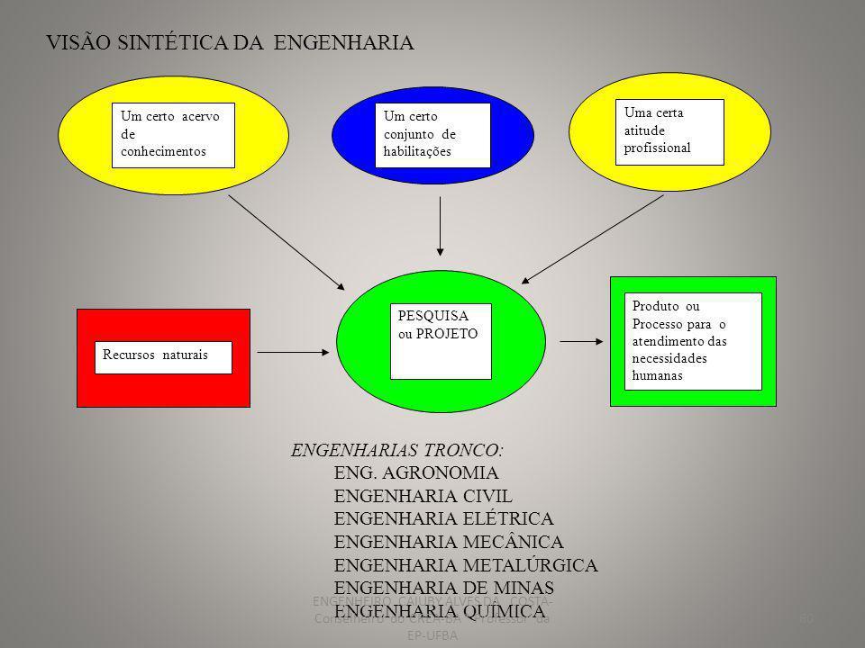 VISÃO SINTÉTICA DA ENGENHARIA
