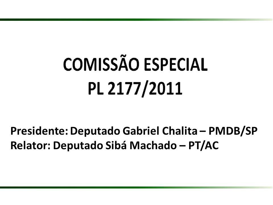 Presidente: Deputado Gabriel Chalita – PMDB/SP
