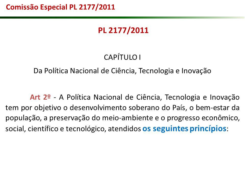 Da Política Nacional de Ciência, Tecnologia e Inovação