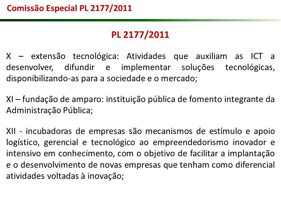 PL 2177/2011 Comissão Especial PL 2177/2011