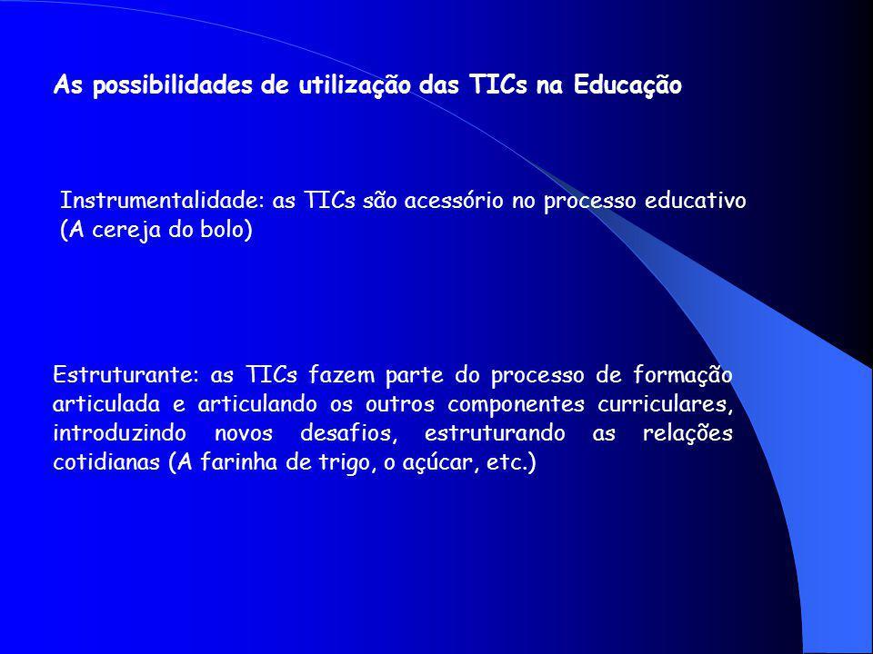As possibilidades de utilização das TICs na Educação