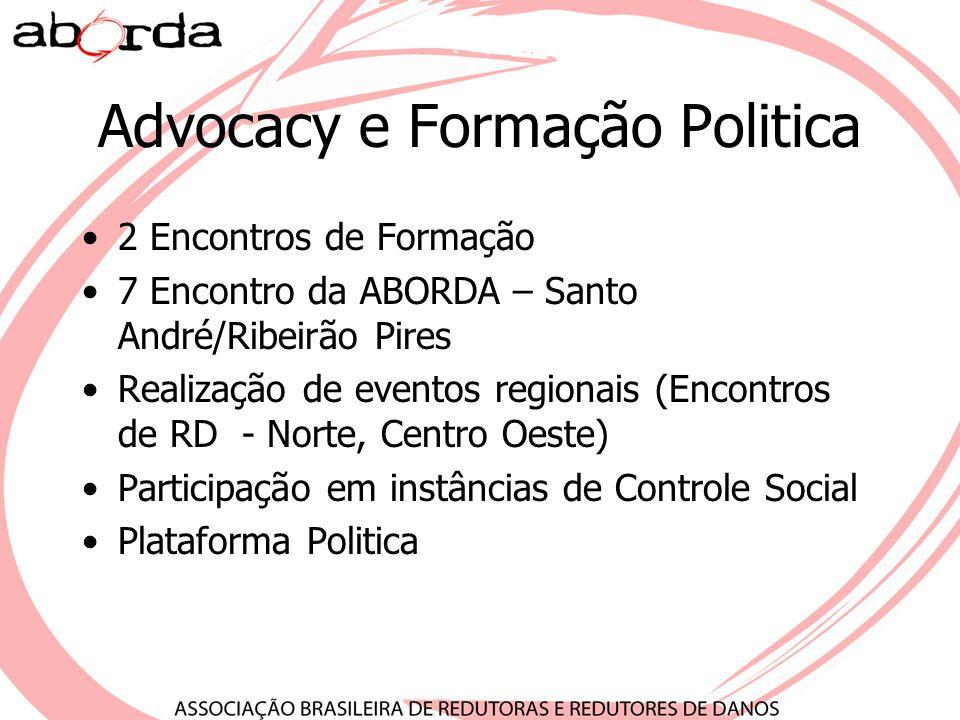 Advocacy e Formação Politica