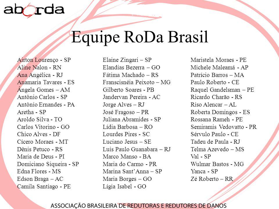 Equipe RoDa Brasil Airton Lourenço - SP Aline Nalon - RN