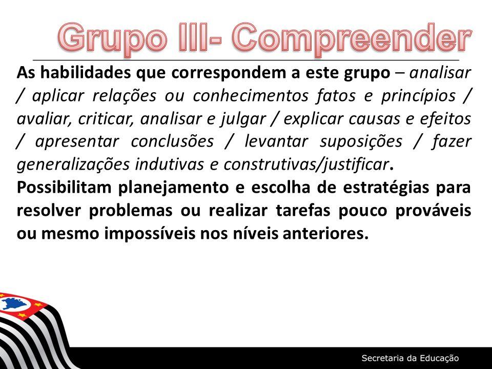Grupo III- Compreender