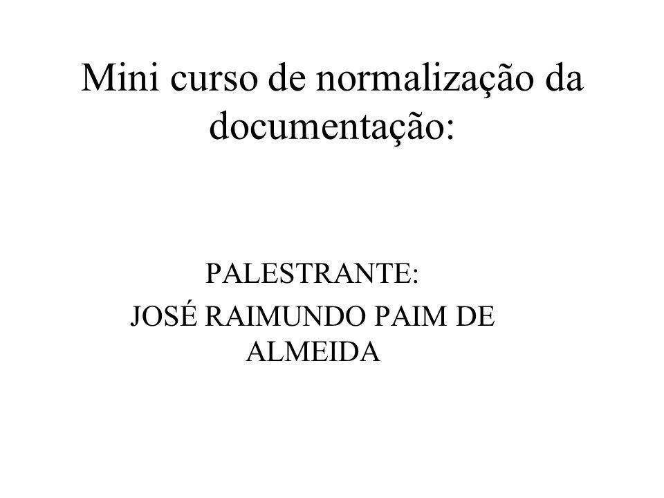 Mini curso de normalização da documentação: