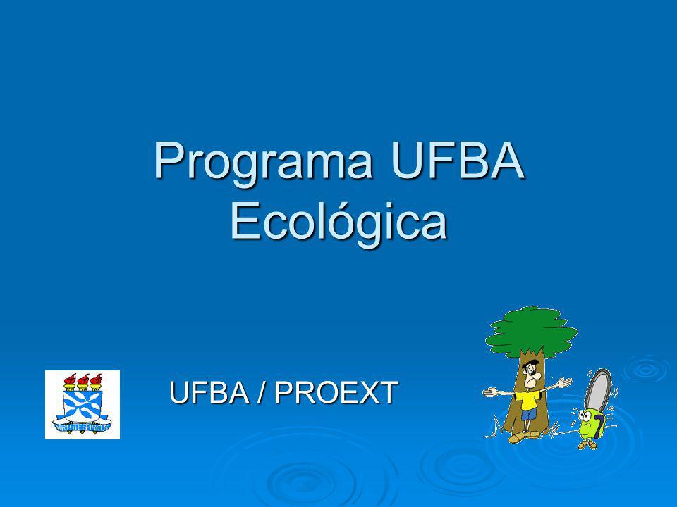 Programa UFBA Ecológica