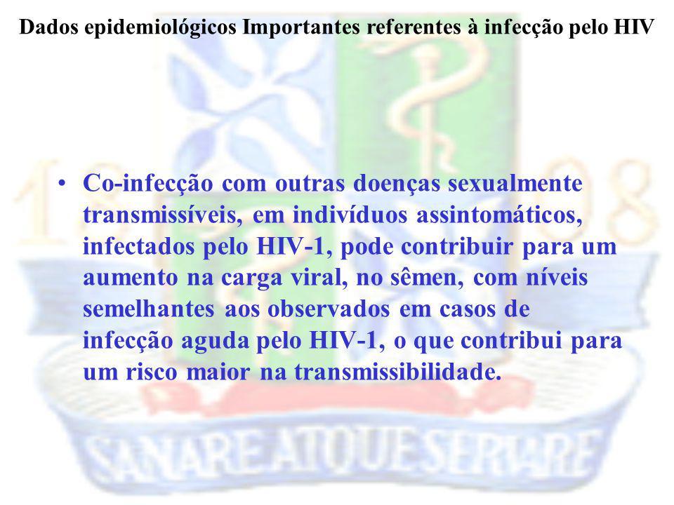 Dados epidemiológicos Importantes referentes à infecção pelo HIV