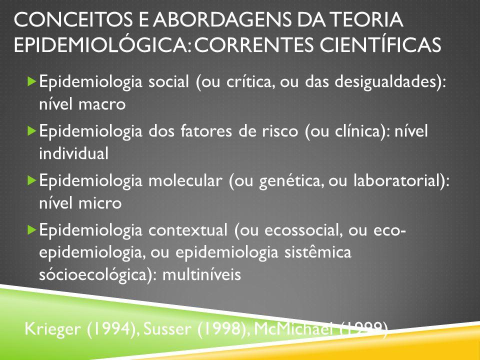Conceitos e abordagens da teoria epidemiológica: correntes científicas