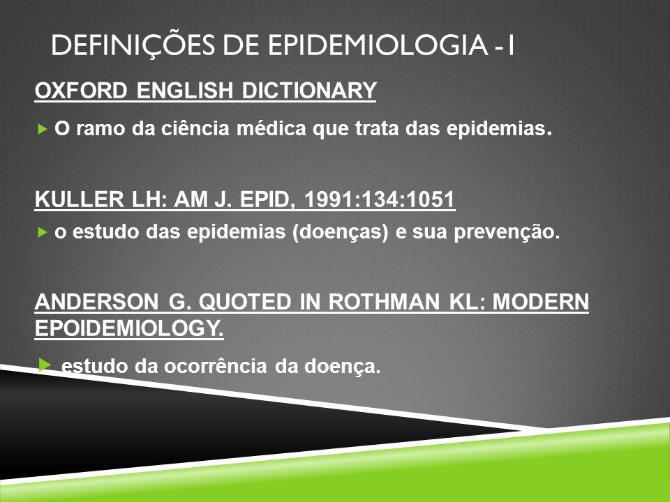 DEFINIÇÕES DE EPIDEMIOLOGIA -1