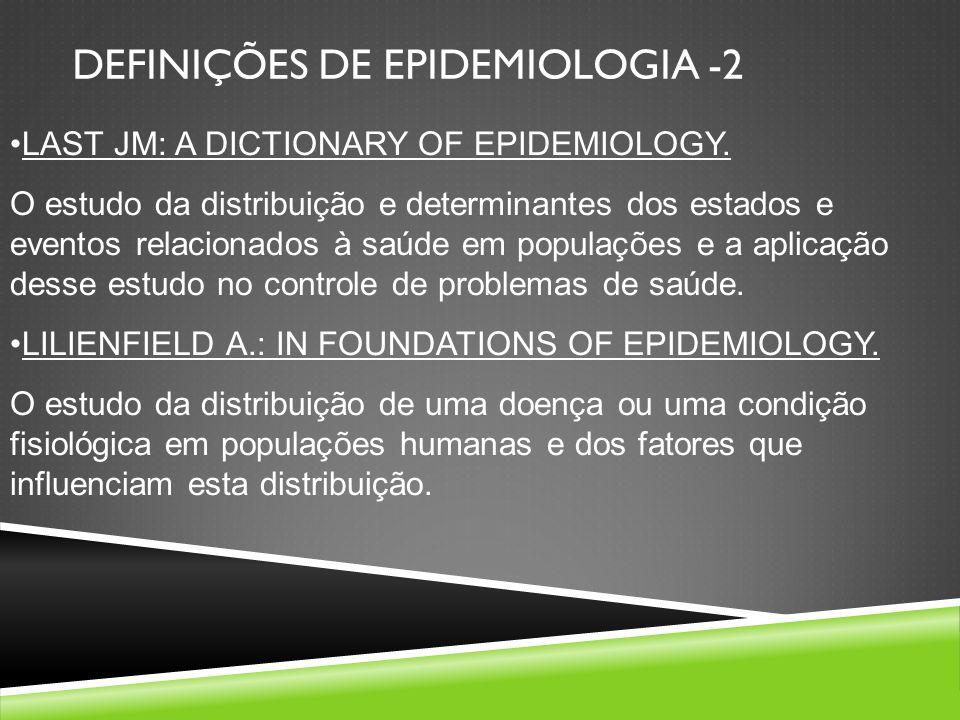 DEFINIÇÕES DE EPIDEMIOLOGIA -2