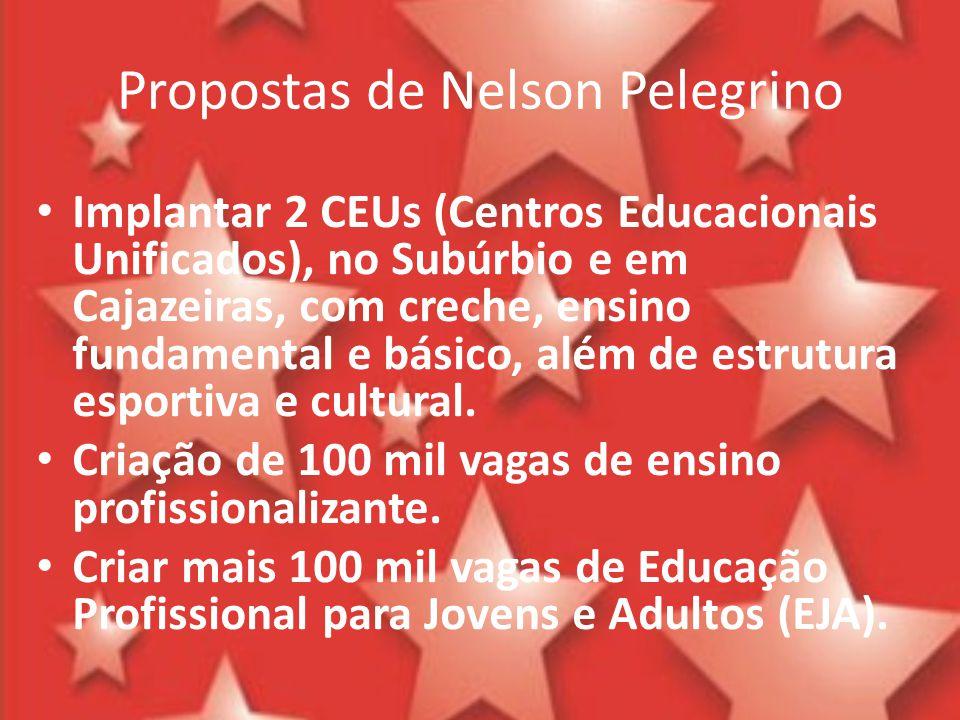 Propostas de Nelson Pelegrino