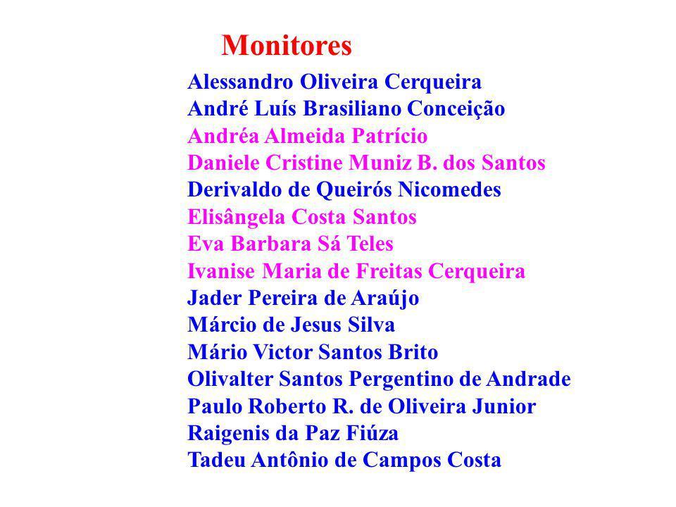 Monitores Alessandro Oliveira Cerqueira