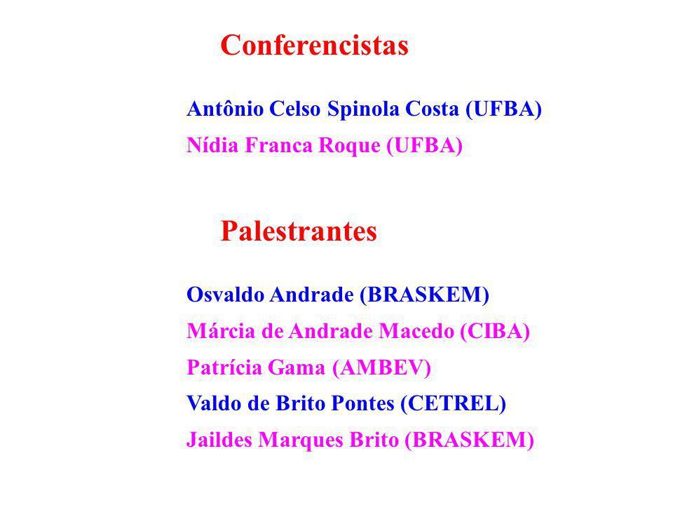 Conferencistas Palestrantes Antônio Celso Spinola Costa (UFBA)