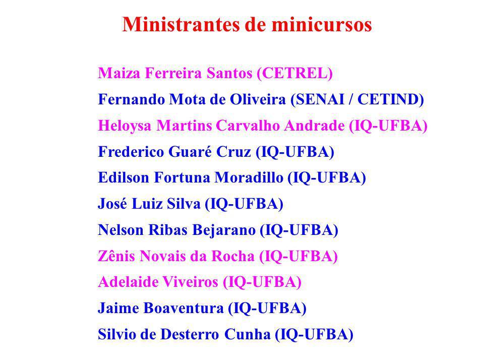Ministrantes de minicursos