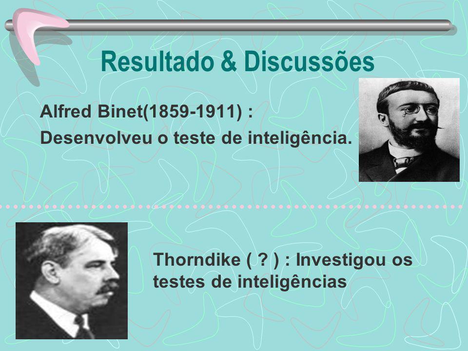 Resultado & Discussões
