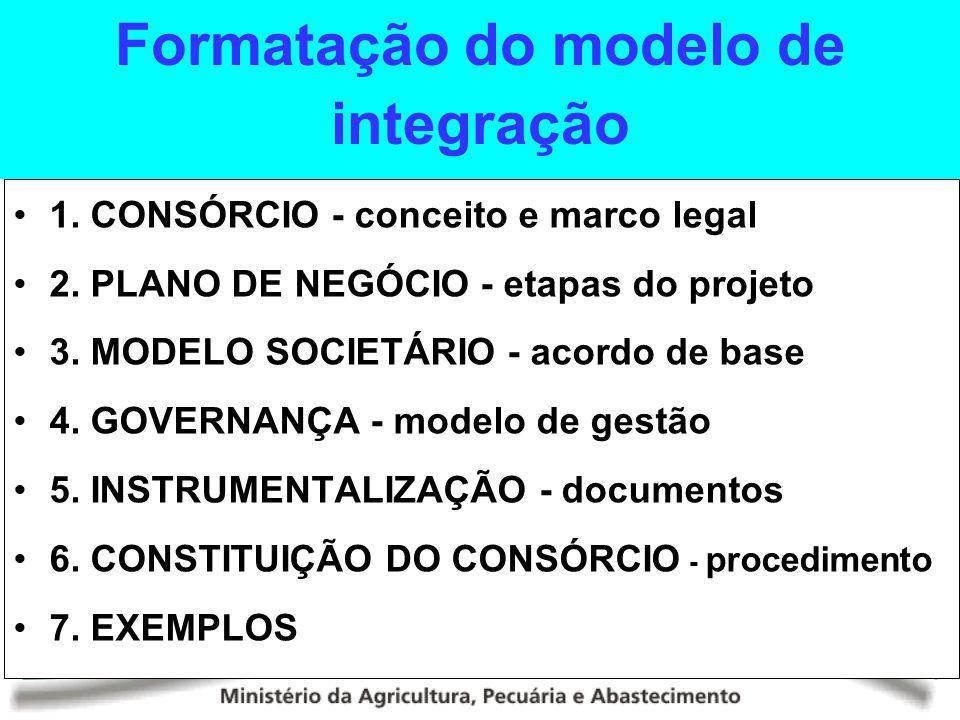Formatação do modelo de integração