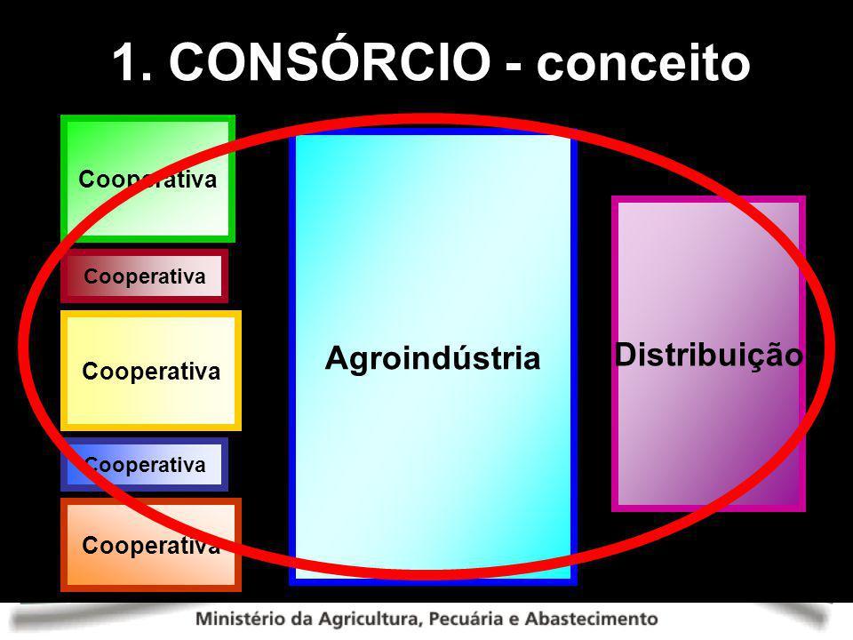 1. CONSÓRCIO - conceito Cooperativa Agroindústria Distribuição