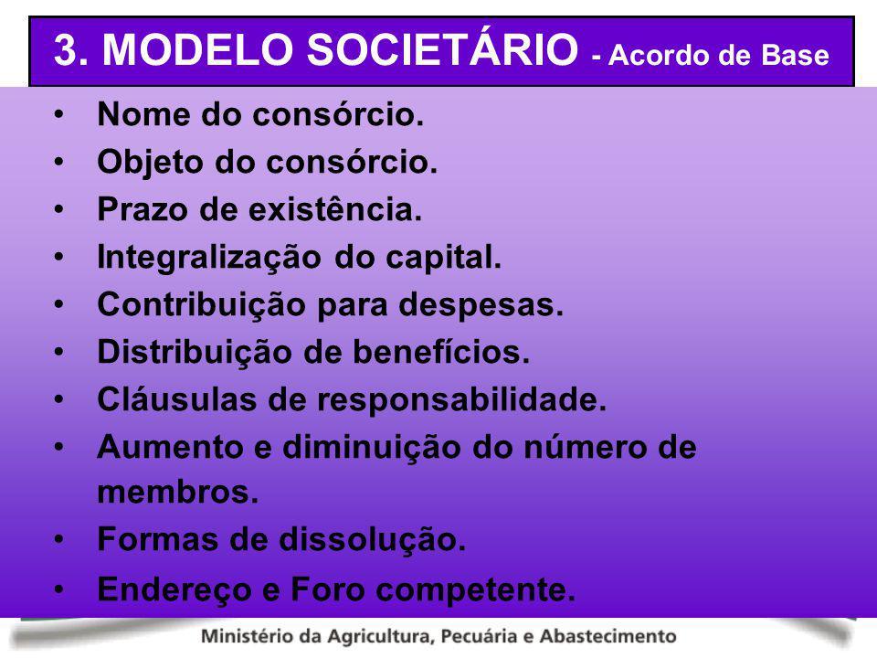 3. MODELO SOCIETÁRIO - Acordo de Base