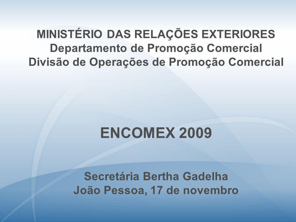 ENCOMEX 2009 MINISTÉRIO DAS RELAÇÕES EXTERIORES
