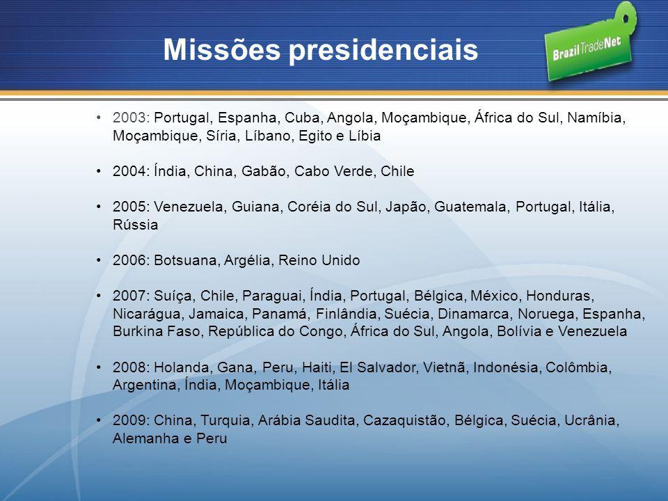 Missões presidenciais