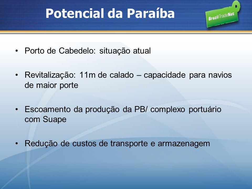 Potencial da Paraíba Porto de Cabedelo: situação atual