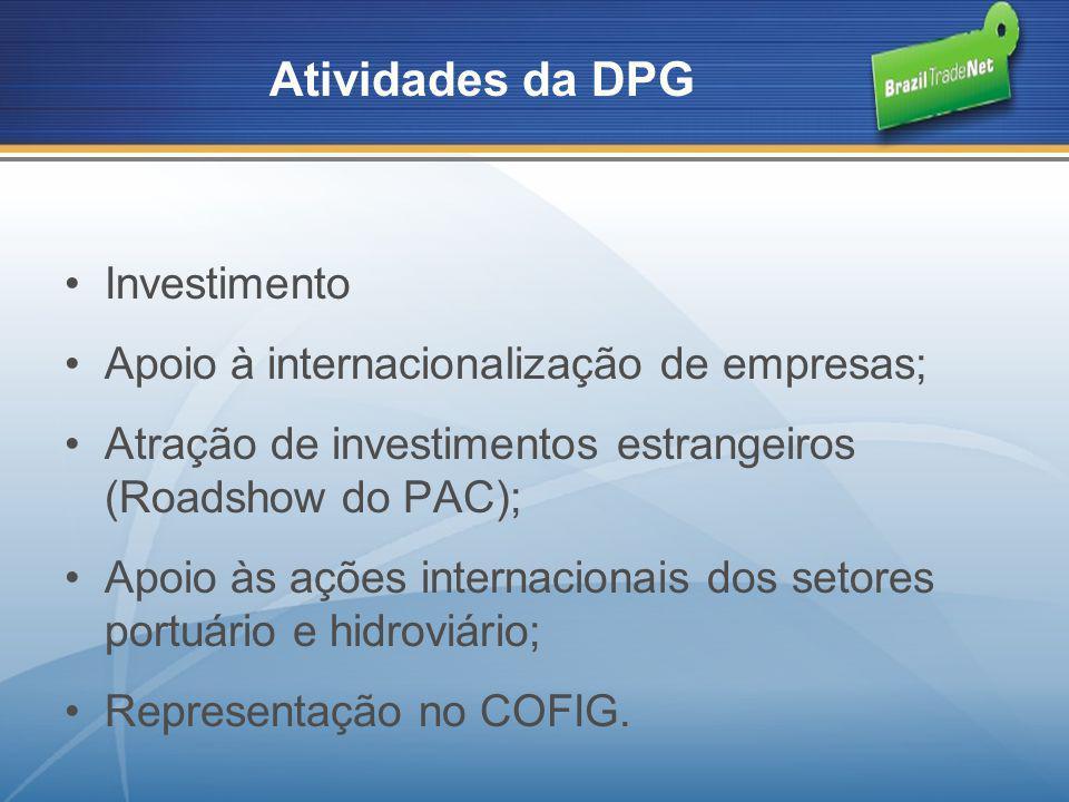 Atividades da DPG Investimento