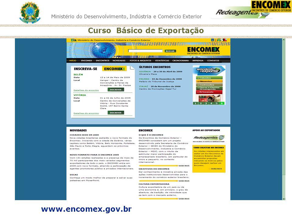 www.encomex.gov.br ATUALIZAR