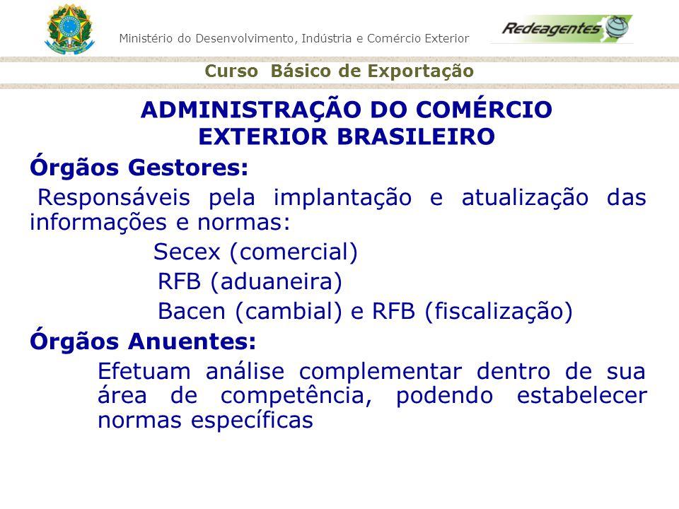 ADMINISTRAÇÃO DO COMÉRCIO EXTERIOR BRASILEIRO