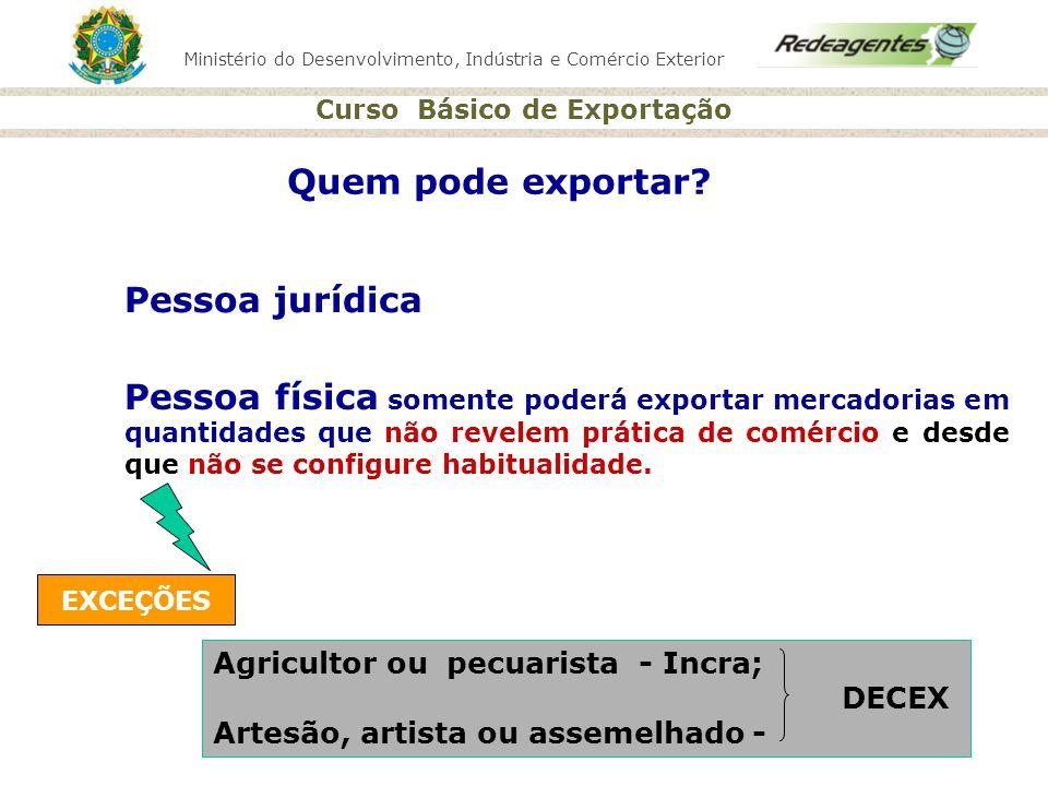 Quem pode exportar Pessoa jurídica
