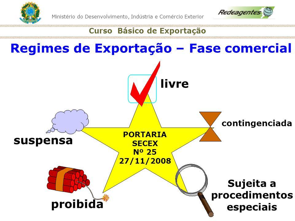 Regimes de Exportação – Fase comercial