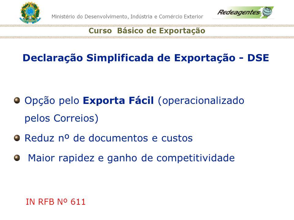Declaração Simplificada de Exportação - DSE