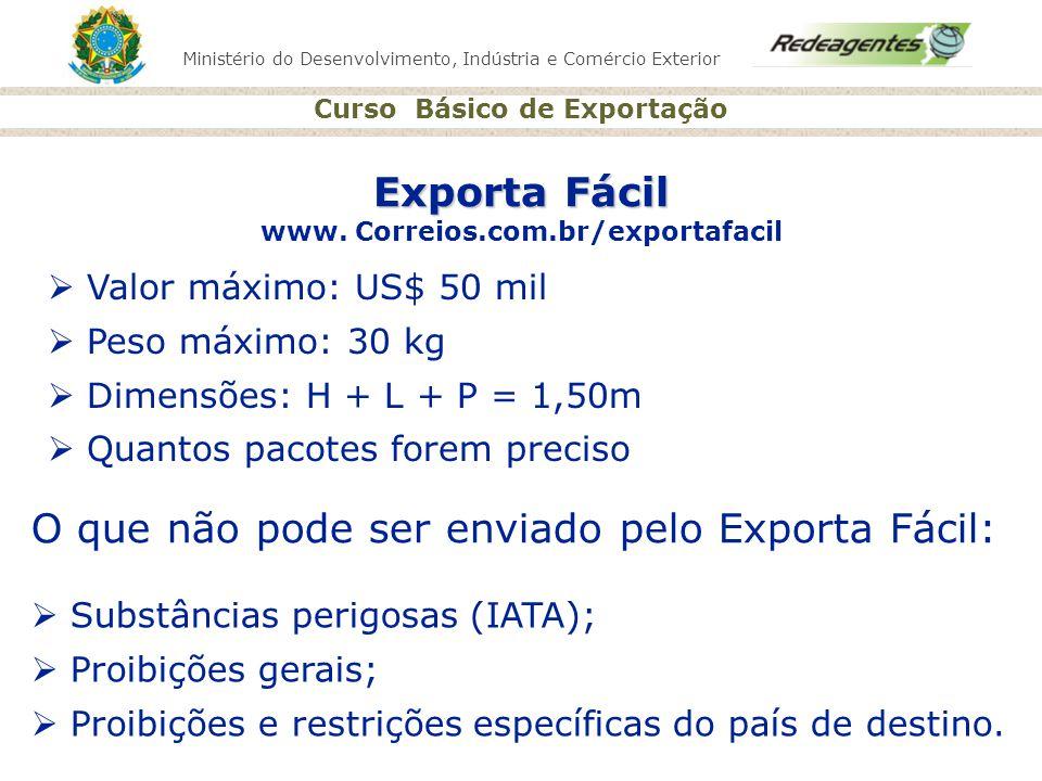 Exporta Fácil www. Correios.com.br/exportafacil